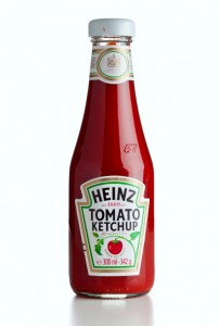 Heinz ketchup bottle isolated